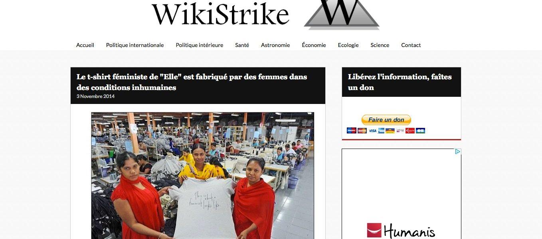 Wikistrike : le blog de l'intox