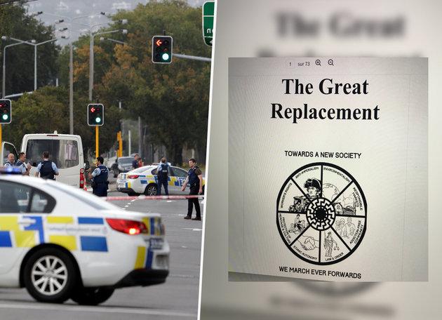 """Le """"grand remplacement"""", une théorie complotiste d'extrême droite qui a inspiré le terroriste de Christchurch"""